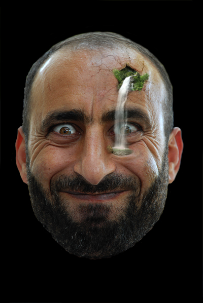 Garden on a Person's Face