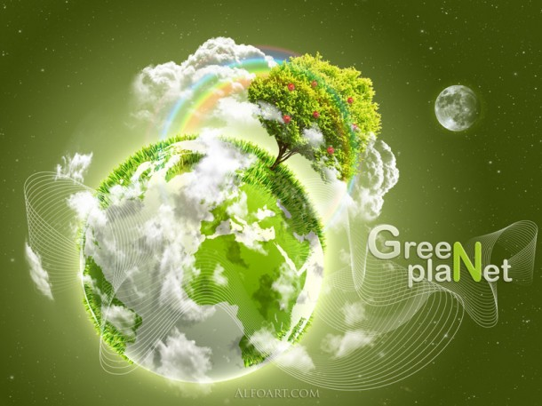 Stylish Green Planet