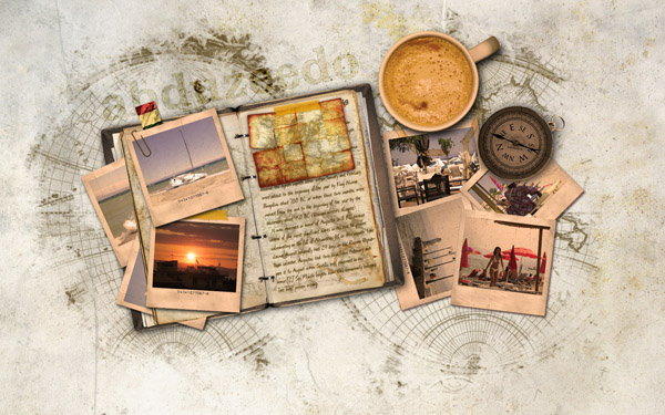 Vintage Traveler Diary