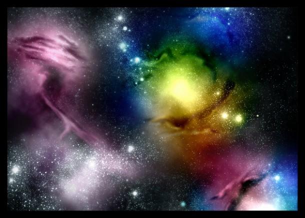 Vibrant Space Nebula