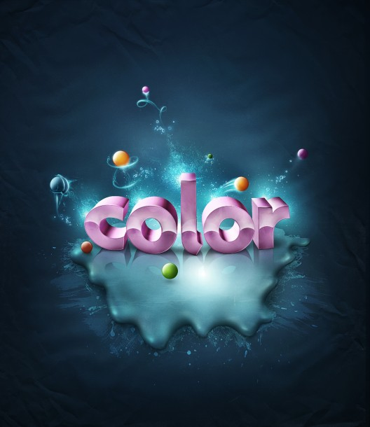Abstract Colorful Text Scene