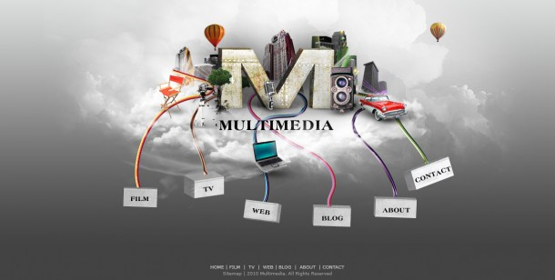 Multimedia Website Layout