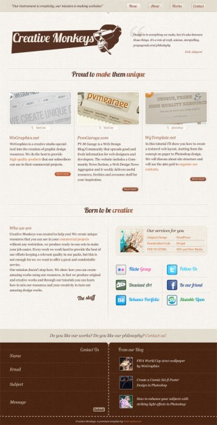 Stylish Textured Web Layout