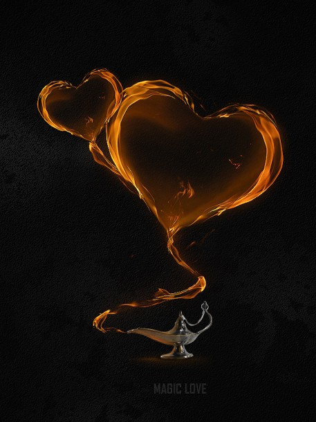 Magical Flaming Heart