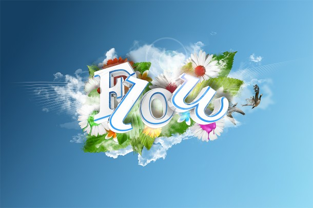 Colorful 3D Text