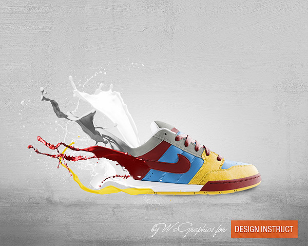 Colourful Shoe Advertisement