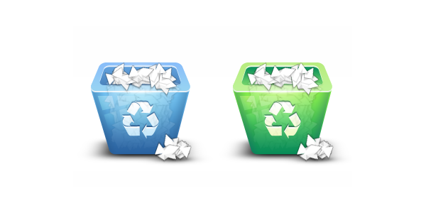 Shiny Recycling Bin Icon