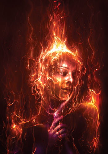 Dramatic Glowing Fire Painting
