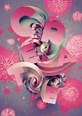 Colorful 3D Type Art