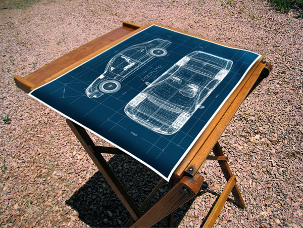 Realistic Blueprint Image